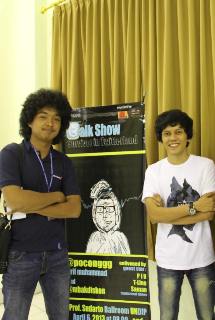Muhammad Arfi alias Poconggg (kanan).